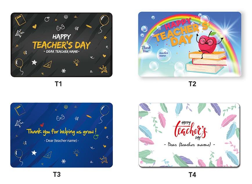 Teachers day ezlink card designs