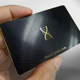 Metal membership card - Helix