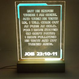 Acrylic plaque with LED light