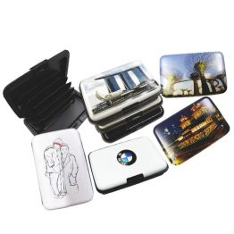 RFID blocking card holders customized with various design