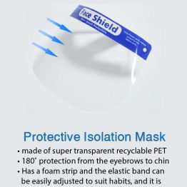 Protective face shield features
