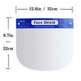 Face shield visor dimension