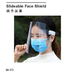 Slideable face shield