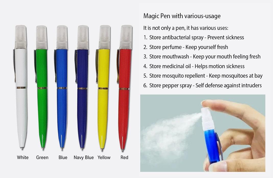 sanitizer spray pen Instruction